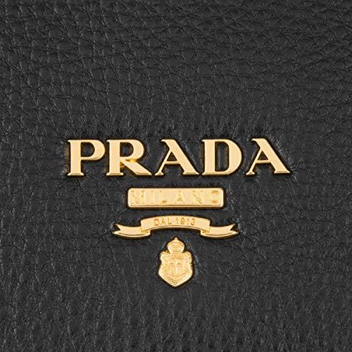 877953f0b27 Prada Vitello Phenix Nero Black Pattina Shoulder Messenger Bag 1BD091