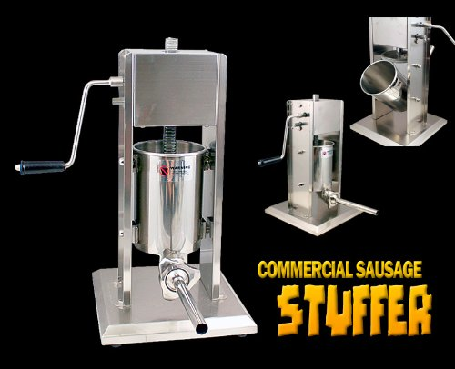 New Stainless Steel Commercial Sausage Stuffer 15 Lbs
