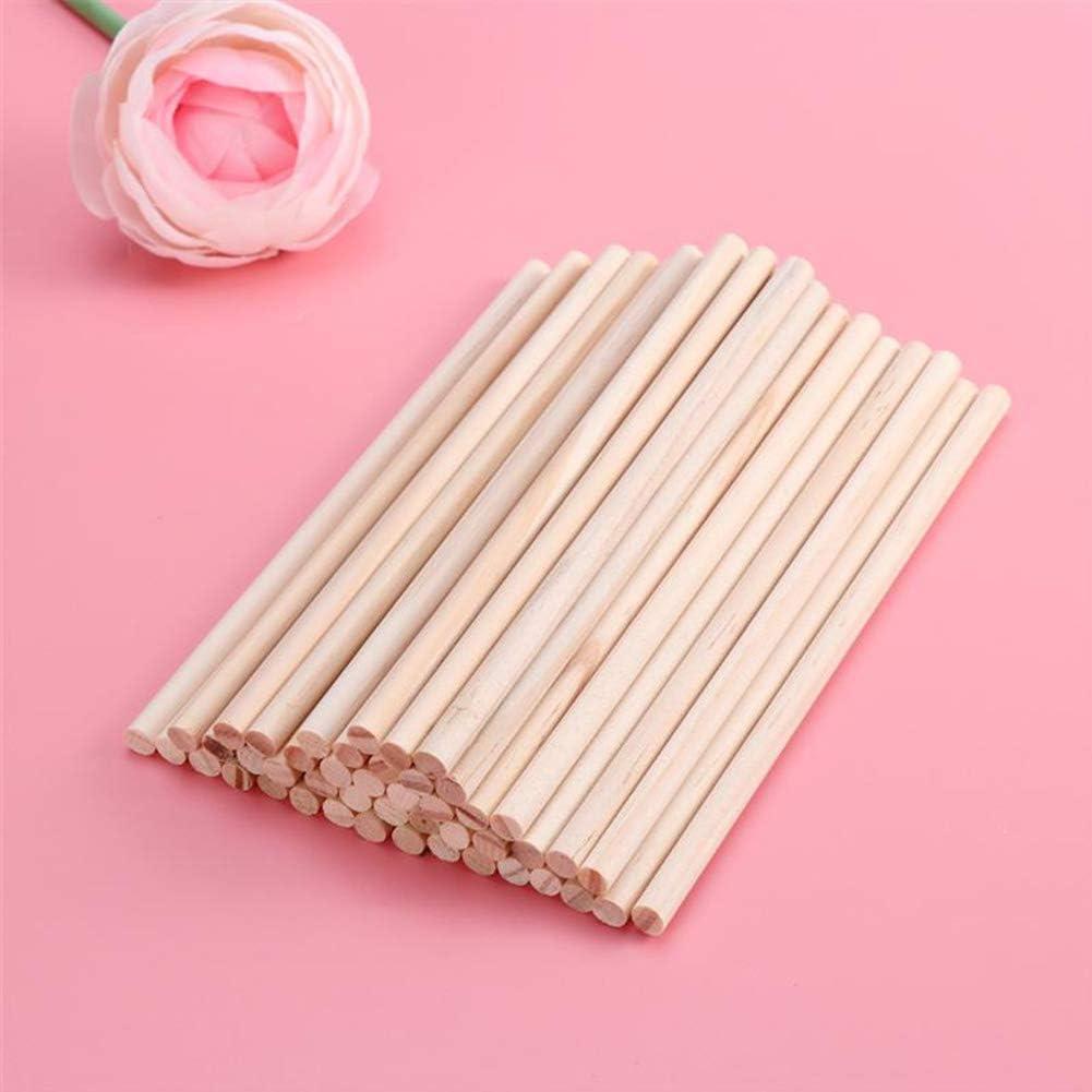 paquete de 4mm*20cm madera 8 pulgadas palos de madera largos para bricolaje Varillas de bamb/ú para manualidades para proyectos de manualidades