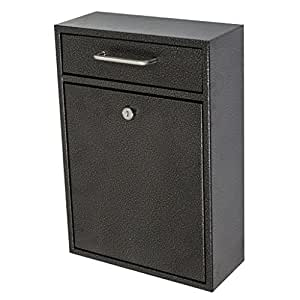 Mail Boss 7413 High Security Steel Locking Wall Mounted Mailbox, Office Drop Box, Comment Box, Letter Box, Deposit Box, Galaxy