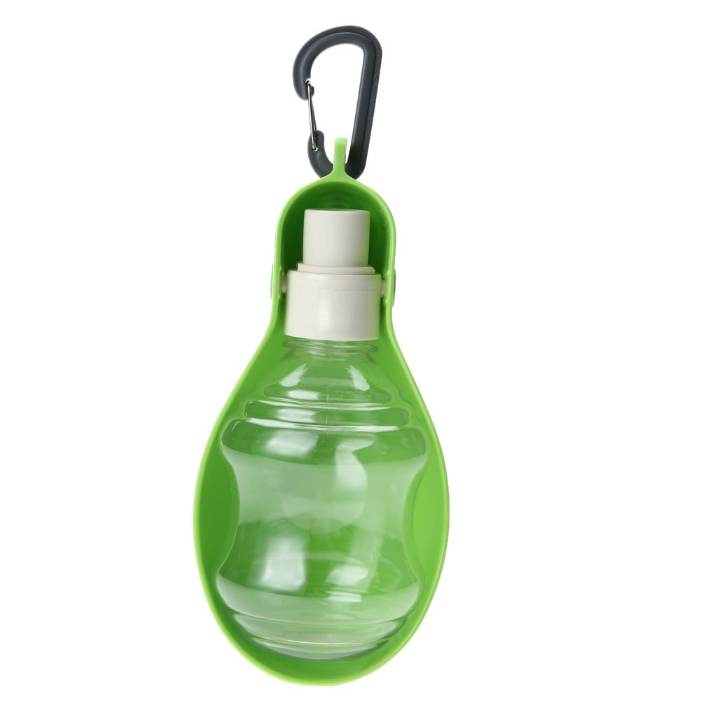 250ML Dog Water Bottle Kitten Cat Drinking Fountain Automatic Slow Dispenser Water Bowls for Dog Plastic Color Green
