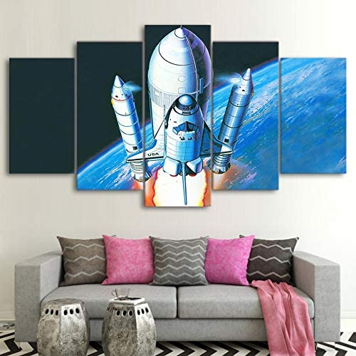 mmwin Canvas s For Living Room Wall Art 5 Unidades Science Space ...