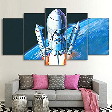 mmwin Canvas s For Living Room Wall Art 5 Unidades Science ...