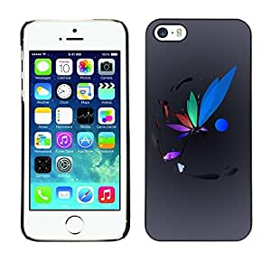 GagaDesign Phone Accessories: Hard Case Cover for Apple iPhone 5 5S - Colorful Dragonfly