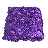 Wedding Carpet,OHTOP 78.74''x 39.4'' 3D Fiber Anti-slip Rose Flower Wedding Stage Floor Long Carpet Aisle Runner Mats Rugs(Purple)