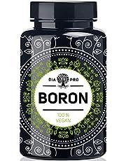 DiaPro® Boron hooggedoseerde boron-tabletten met 3 mg borr per tablet van natriumboraat, 365 stuks, jaarvoorraad, 100% veganistisch laboratoriumgetest, vervaardigd in Duitsland