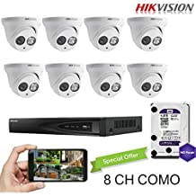 Hikvision 8CH Combo: 8 x 4MP High Defination IP Cameras(DS-2CD2342WD-I) Security System, 8 Channel NVR (DS-7608NI-E2/8P) With 4TB WD Purple HDD Installed, Built-in PoE Plug and Play, Hikvision Camera and NVR US English Version [Ships from Canada]