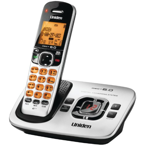 (D1780 DECT 6.0 Expandable Cordless Phone with Digital Answering System, Silver, 1)