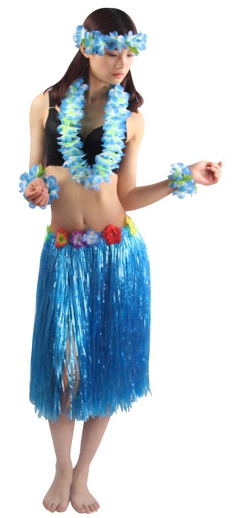 Good Quality 5pcs/set Adult Hawaiian Luau 60cm grass hula skirt