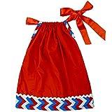 Rush Dance 4th July Patriotic Chevron Flag Pillowcase Dress & Matching Headband