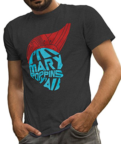 Fan Made Yondu Shirt I'm Mary Poppins Y'all inspired Guardians of the Galaxy Tee by LeRage Shirts MEN'S Charcoal - Guardians Galaxy Gifts The Of