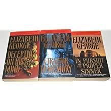 Author Elizabeth George Three Book Bundle Collection Set Includes: Deception On His Mind - A Traitor To Memory - In Pursuit of the Proper Sinner