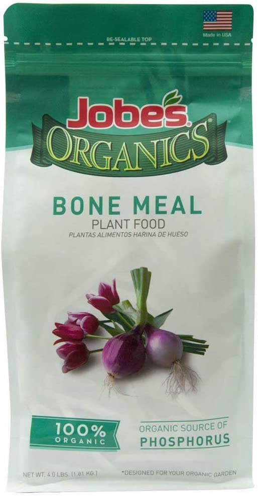 Jobe's Organics Bone Meal Fertilizer 2-14-0 Organic Phosphorus Fertilizer for Vegetables, Tubers, Flowers and Bulbs, 4 Pound Bag, New Version