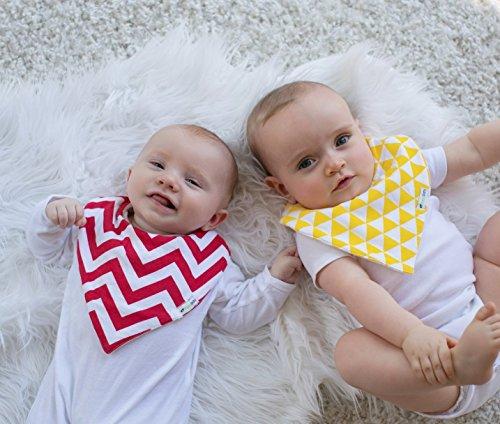 Ziggy Baby Bandana Bibs for Teething Drool (4 Pack), Unisex Gift Set