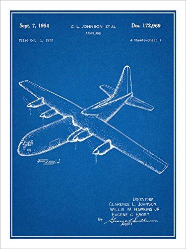 Hercules Transport Aircraft Patent Print Art Poster UNFRAMED Blueprint 18