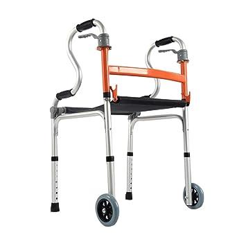 XJZHAN Andador Plegable de Aluminio con Ruedas de 4 Ruedas y ...
