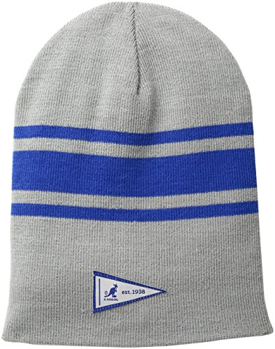 Kangol Men's Rev Stripe Slouch Beanie, Grey, One Size
