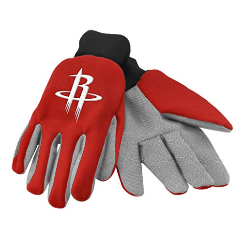 fan products of Houston Rockets Official NBA One Size Sport Utility Work Gloves by Forever Collectibles 017290