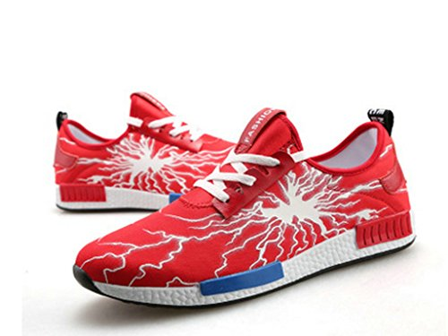 WENDYWU MEN FASHION SHOES AND FASHION SNAKERS Red e5LGAa