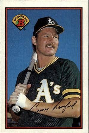 Amazoncom 1989 Bowman Baseball Card 198 Carney Lansford