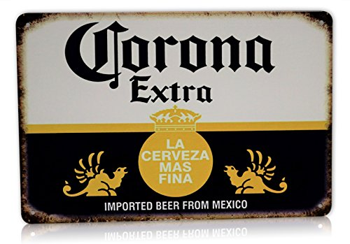 Corona Beer Man Cave Decor Extra Metal Sign La Cerveza Alcohol Home Party Bar Retro Vintage Signs Size: 8x12 Inches]()