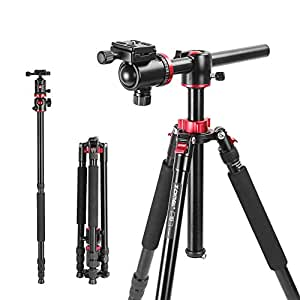 ZOMEi M8 Professional Aluminum Alloy Trípode Monopods with 360 Degree Panoramic Ball Head For Canon Nikon DSLR Cameras 192 Centimeters