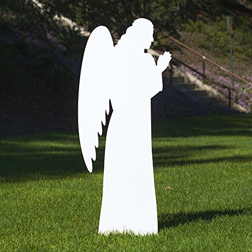 Outdoor Nativity Store Outdoor Nativity Set Add-on - Angel (Life-size, White) by Outdoor Nativity Store