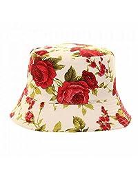 Womens/Ladies Reversible Floral Rose Print Bucket Hat