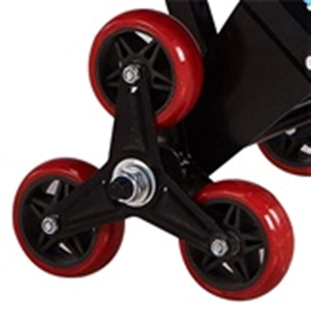 JIANPING Trolley Household Folding Portable Mute Trolley Car Shopping Cart Luggage Cart Truck Trailer Can Bear 100kg Shopping Trolley (Color : A) by JIANPING (Image #4)