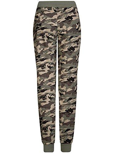 oodji Ultra Mujer Pantalones de Punto con Cordones Gris (2325O)