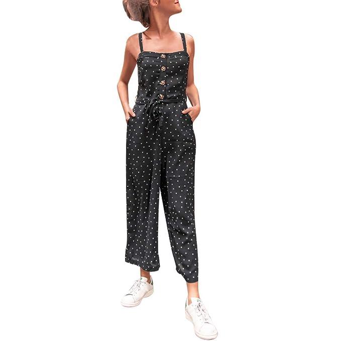 STRIR Mujer Peto con Bolsillos Mono Largo Elegante Casual Tirantes ...