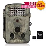 Crenova 12MP 1080P HD Game & Trail Hunting Camera Night Vision up to 65ft with 42pcs 940nm IR LEDs and 120 Wide Angle, 2.4