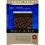 Slimline Center Column Reference Bible Nlt, Compact Edition, Large Print, Floral Tutone