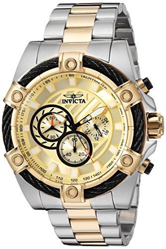 Invicta Bolt - Invicta Men's Bolt Quartz Watch with Stainless-Steel Strap, Two Tone, 26 (Model: 25518)
