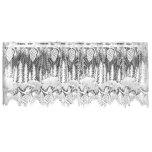 Heritage Lace Pinecone 60-Inch Wide by 16-Inch Drop Valance, White by Heritage Lace ()