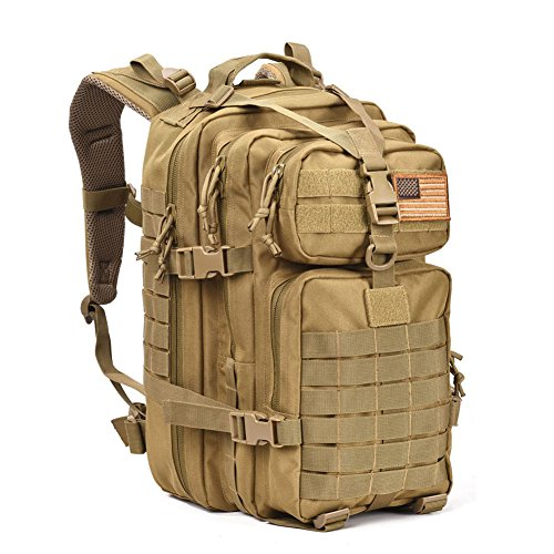 Military Rucksack - Military Tactical Assault Pack Backpack Army Molle Bug Out Bag Backpacks Small Rucksack for Outdoor Hiking Camping Trekking Hunting Tan