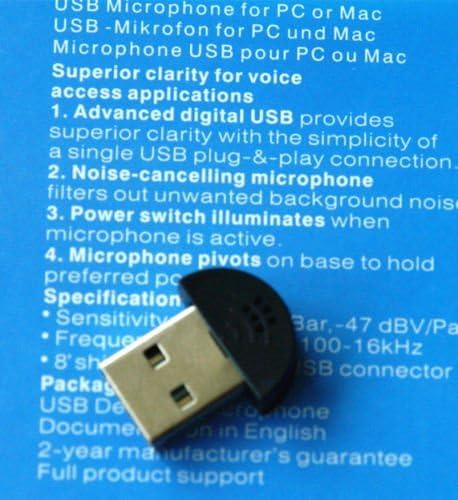 Portable USB Plug Small Mini USB 2.0 Desktop Studio Speech Recording Microphone