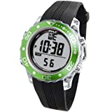 Pyle Waterproof Underwater Snorkeling & Diving Multi-Function Water Sport Wrist Watch with Dive Mode, Chronograph, Stopwatch, Water Temperature, Dive Depth & Duration, Green