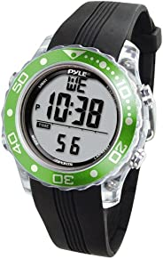 Pyle-Sport PSNKW30GN Snorkeling Master with Dive Duration Depth Water Temp Max 100 Dive Records Dive Alarm Whe