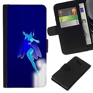 Stuss Case / Funda Carcasa PU de Cuero - Flying Blue Fairy - Samsung ALPHA G850