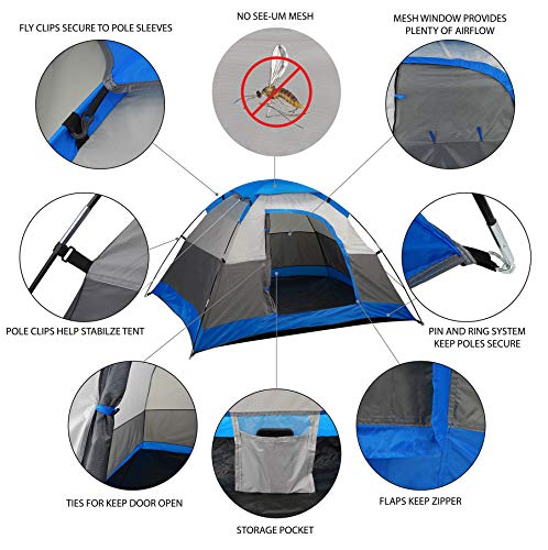 GigaTent Paramount 7′ x 6′ Camping Dome Tent