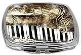 Rikki Knight Compact Mirror, Antique Music Notes, 3 Ounce