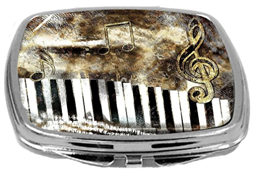 Rikki Knight Compact Mirror, Antique Music Notes, 3 Ounce by Rikki Knight