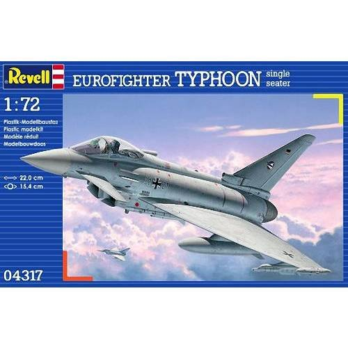 Revell 04317 - Eurofighter TYPHOON Single Seater Kit di Modello in Plastica, Scala 1:72 RG4317