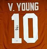 TEXAS LONGHORNS VINCE YOUNG AUTOGRAPHED ORANGE JERSEY PSA/DNA STOCK #94317