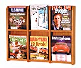 Wooden Mallet Divulge 6 Magazine Wall Display Storage Rack Medium Oak electronic consumers