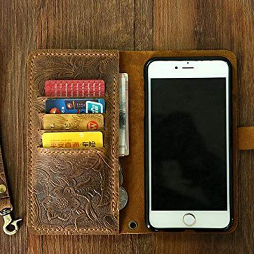 Gift for Her, Women embossing leather Wristlet iPhone 6s wallet case iPhone 6 mobile wallet/leather iPhone 6 6s plus wallet case cover, Gift for Women