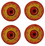 Ceramic Coasters - Set of 4 (Sol Design) - Hand Painted in Spain