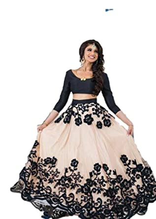 82baf54e53 REKHA Ethinc Shop Latest Bridal Embroidery Indian Designer Lehenga Choli  Dupatta A398 at Amazon Women's Clothing store: