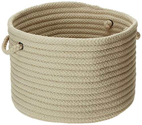 - Colonial Mills Simply Home Solid Utility Basket, 24 by 14-Inch, Linen